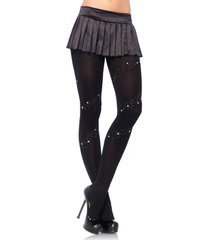 7898 (black silver trim) full support tights wrap around design stud & stars