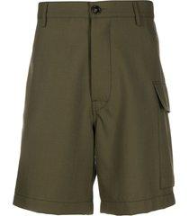 marni straight-leg bermuda shorts - green