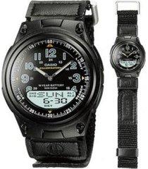 reloj casio aw_80v_1bv negro tela hombre