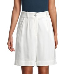 iro women's kush pleated shorts - white - size 34 (2)
