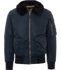 schott nyc ohara flight jacket - navy