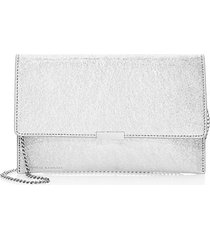 metallic leather envelope clutch