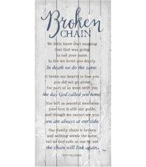 """dexsa broken chain new horizons wood plaque, 5.5"""" x 12"""""""