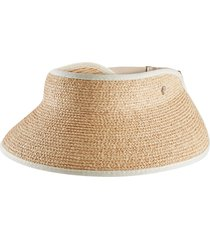 helen kaminski woven raffia visor in natural/sand at nordstrom