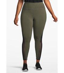 lane bryant women's active 7/8 legging - mesh inset 22/24 grape leaf