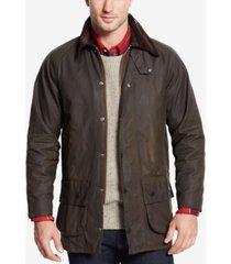 barbour men's beaufort waxed jacket