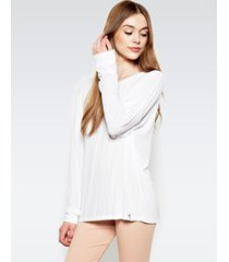 maximo drop shoulder top - xs white