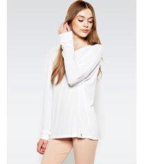maximo drop shoulder top - xs white