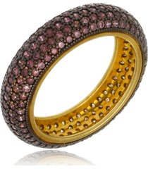 anel le diamond com micro zircônias chocolate