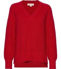 vnk shaker hi-low swt stickad tröja röd michael kors