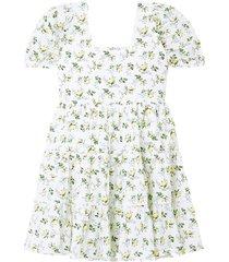 net sustain eldora tiered floral-print cotton-poplin mini dress