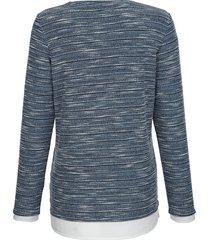 topp dress in marinblå::offwhite