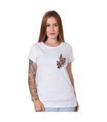 camiseta  knife butterfly branco