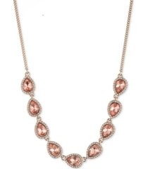 """givenchy cubic zirconia pear-shape halo statement necklace, 16"""" + 3"""" extender"""