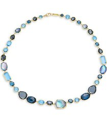 18k yellow gold & multi-stone necklace