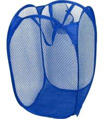 cesto de roupa suja grande nylon organizador brinquedos azul