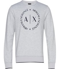 man jersey sweatshirt sweat-shirt trui grijs armani exchange