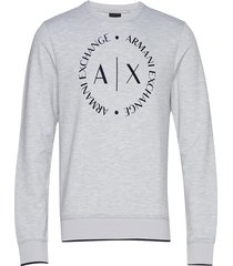 man jersey sweatshirt sweat-shirt trui grijs armani exchange