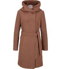 cappotto corto in misto lana (marrone) - john baner jeanswear