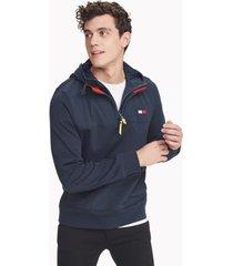 tommy hilfiger men's essential colorblock hoodie sky captain - xs