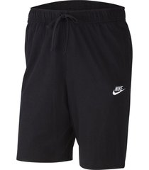 pantaloneta nike sportswear club para hombre - negro
