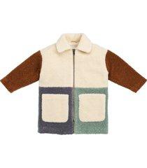 teddybeer jas met patchwork