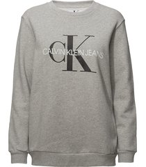 core monogram logo sweatshirt sweat-shirt trui grijs calvin klein jeans