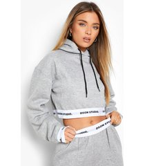 gestreepte hoodie, grey marl