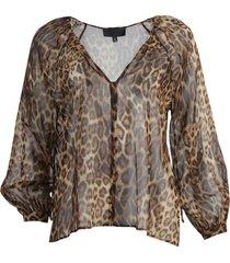rosette leopard print top