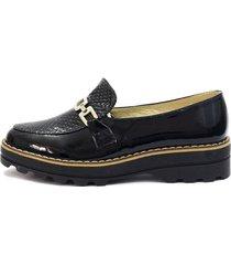zapato negro blanco perla zd-056