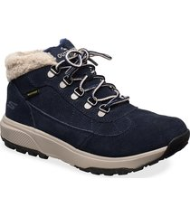 womens outdoor ultra shoes boots ankle boots ankle boots flat heel blå skechers