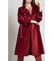 abrigo terciopelo merlot rebelde liola