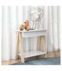 mesa cavalete vintage natural branco casah