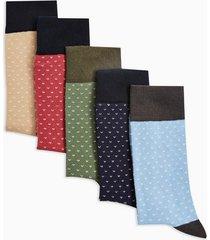 mens multi birdseye socks 5 pack