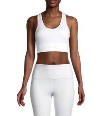 spyder women's solid sports bra - white - size l