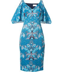 peter pilotto floral print dress - blue