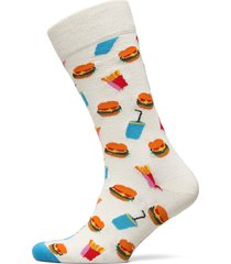 burger sock underwear socks regular socks vit happy socks