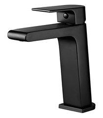 misturador monocomando de mesa para lavatório like preto
