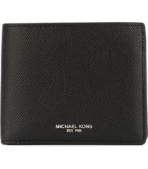 michael kors 'harrison' fold over wallet - black