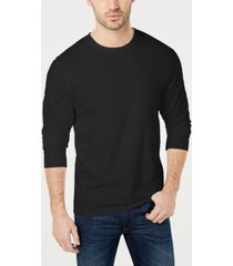 club room men's long sleeve crew-neck t-shirt, created for macy's