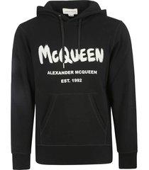 alexander mcqueen graffiti print hoodie