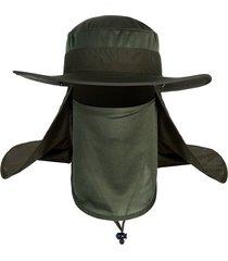 protección solar exterior antimosquitos sombrero pescador pesca insectos cap protección uv
