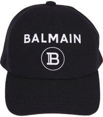 balmain logo printed cap