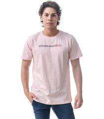 camiseta vitoriano basic - rosa claro - rosa - masculino - algodã£o - dafiti