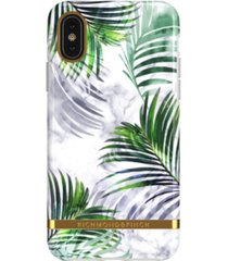 richmond & finch white marble tropics case for iphone x and xs