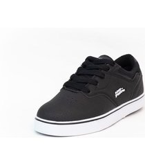 zapatilla skateboarding negro no fear indus2