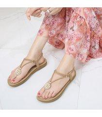 puntale con clip di strass bohemia su scarpe piatte casual