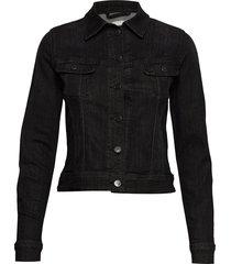 slim rider jeansjack denimjack zwart lee jeans