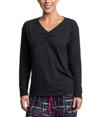 muk luks long sleeve pajama t-shirt