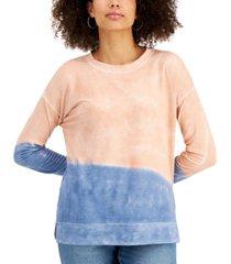 style & co heart-print sweatshirt, created for macy's